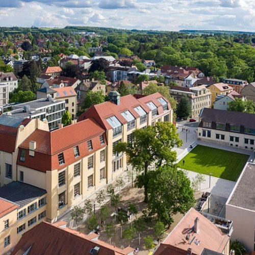 31.05.2019 Weimar: Hauptgebäude der Bauhaus Universität Weimar / Foto: Thomas Müller